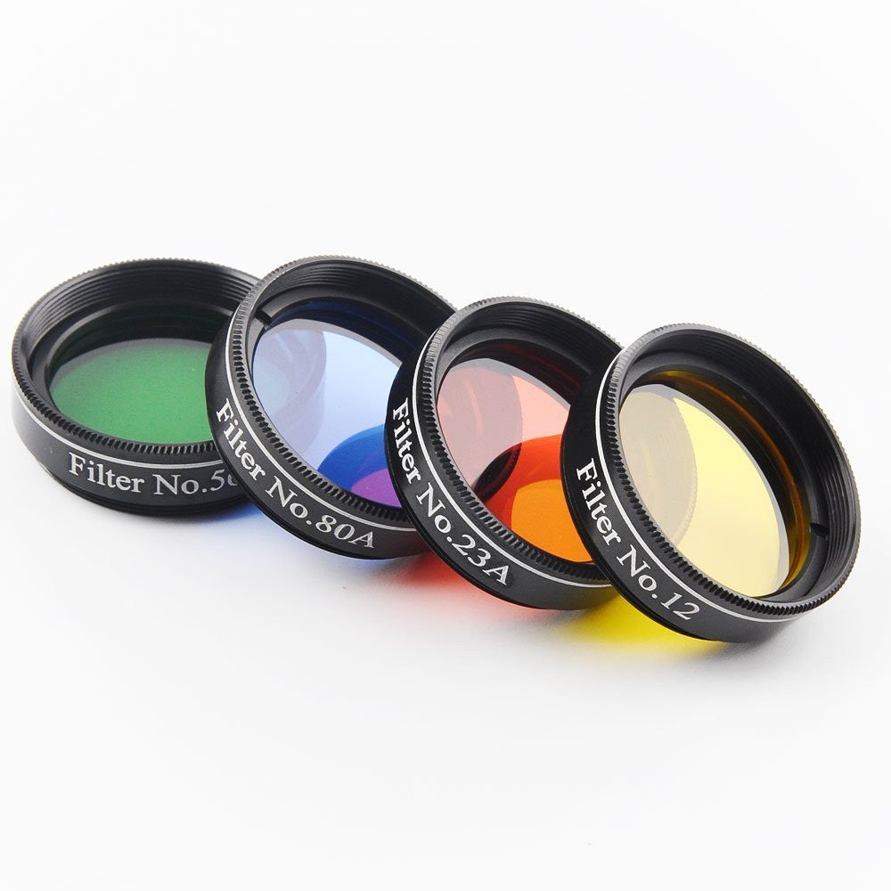 1.25 inch 4pcs Telescope Filter glass nebula filters Set Astronomical Telescope oculares