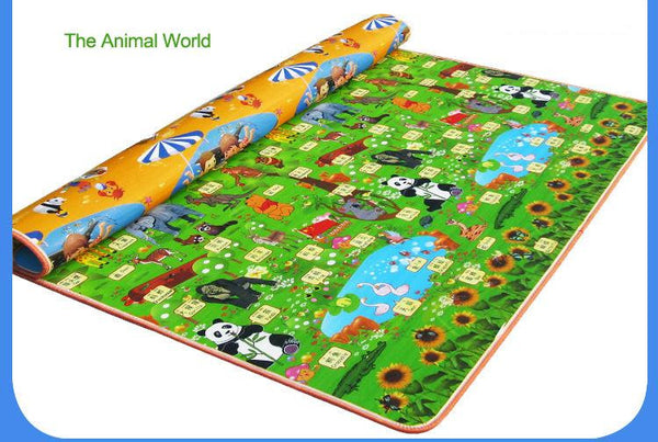 1.5m*1.8m Two Side Alphabet Baby Play Mat Fruit Animal Infant Crawling Mat Floor Educational Develop Toddler Baby Toy Carpet Pad