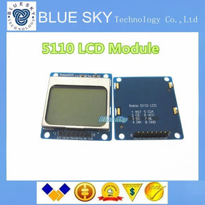 "1.6"" Compatible 5110 LCD Module w Blue Backlit - Blue Compatible for Arduino new Dropshipping"