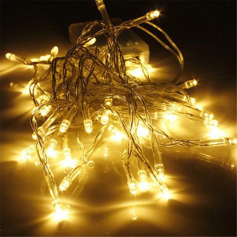 10 20 30 40 AA Battery Operated LED String Lights for Xmas Garland Party Wedding Decoration Christmas Flasher Fairy Lights