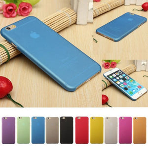 10 Candy Color 0.3mm Ultra Thin Slim Matte frosting Phone Case For Iphone 7 7 Plus 4 4s 5 5S 5SE 5C 6 6S 6 5.5'' Clear Mobile Ph