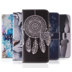 10 Fashion Patterns Flip Case for Apple iPhone 4 4S PU Leather + Soft Silicon Wallet Case iPhone 4S Cover Case Coque Fundas Capa