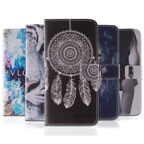 10 Fashion Patterns Flip Case for Samsung Galaxy S5 PU Leather + Silicon Wallet Cover for Samsung S5 Case Coque Fundas Capa
