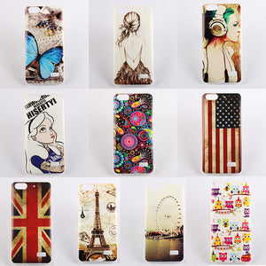 10 Patterns Painted Soft TPU Silicon Case Huawei Honor 4C Protect Back Cover For Huawei 4 C Mobile Phone Cases Skin Hood Housing