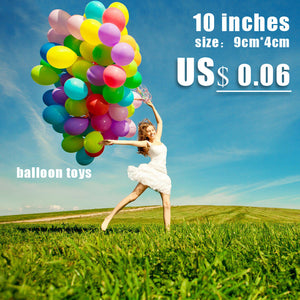 10 inches of mixed color inflatable latex balloons inflatable outdoor children's toys