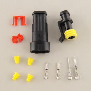 10 Kits 2 Pin Way Sealed Waterproof Electrical Wire Connector Plug Waterproof Electrical Wire Connector Plug on
