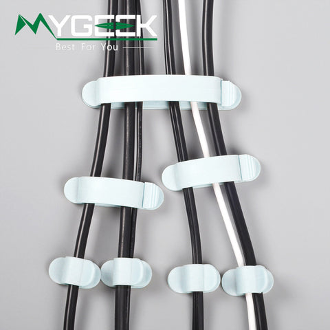 10 pieces Cable Holder Organizer Cord Wire Line Organizer Holder retaining clip winding hub Desktop position Ties Fixer Fastener