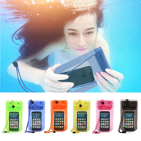 100% sealed Waterproof Bag Case Pouch Phone cases for iPhone 6 6S 6 Plus 5S SE 5C 5 4S Samsung Galaxy S6 S5 S4 Samsung Note 2