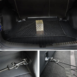 100 x 70cm Universal Car Rear Trunk Floor Cargo Luggage Storage Mesh Net Plus Mounting Fit for SUV