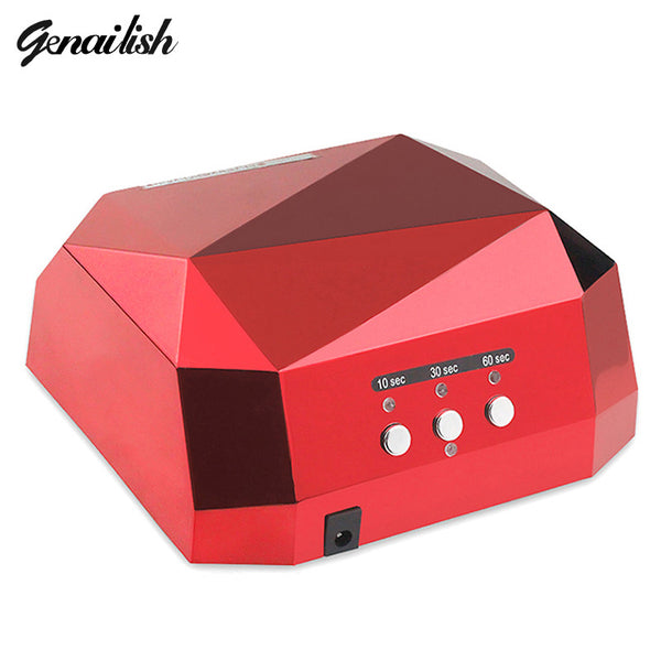 1006-36W UV Lamp LED Ultraviolet Lamp UV Nail Dryer Nail Lamp Diamond Shaped CCFL Curing for UV Gel Nails Polish Nail Art Tools
