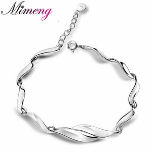 100% Sterling Silver 925 Jewelry Mildly 2016 Explosion Models Silver Bracelet Top Quality Free Shipping