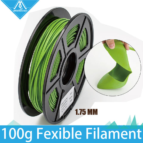100g 3D Printer Fexible Filament 1.75 MM Flexible 3D Printer Filament Natural Clear