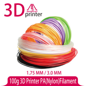 100g 3D Printer PA(Nylon) Filament 1.75 MM 3.0 MM 100g ABS PLA PA PVA HIPS for MakerBot Flash Forge