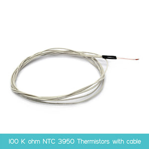 100K ohm NTC 3950 Thermistors with cable for 3d Printer Mend RAMPS 1.4 A4988 MK2B heatbed Freeshipping
