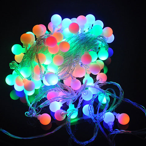 100PCS 10M Christmas Colorful RGB Round Ball Fairy LED String Party LED Twinkle Ball Party Tree Light
