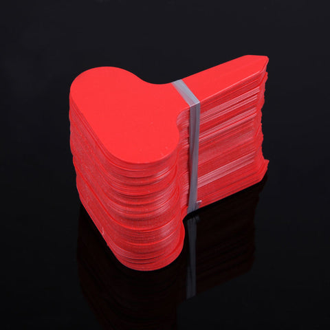 100pcs 6.8*4.8cm Plastic Plant Labels T-type Tags Markers Nursery Garden Ornaments Red