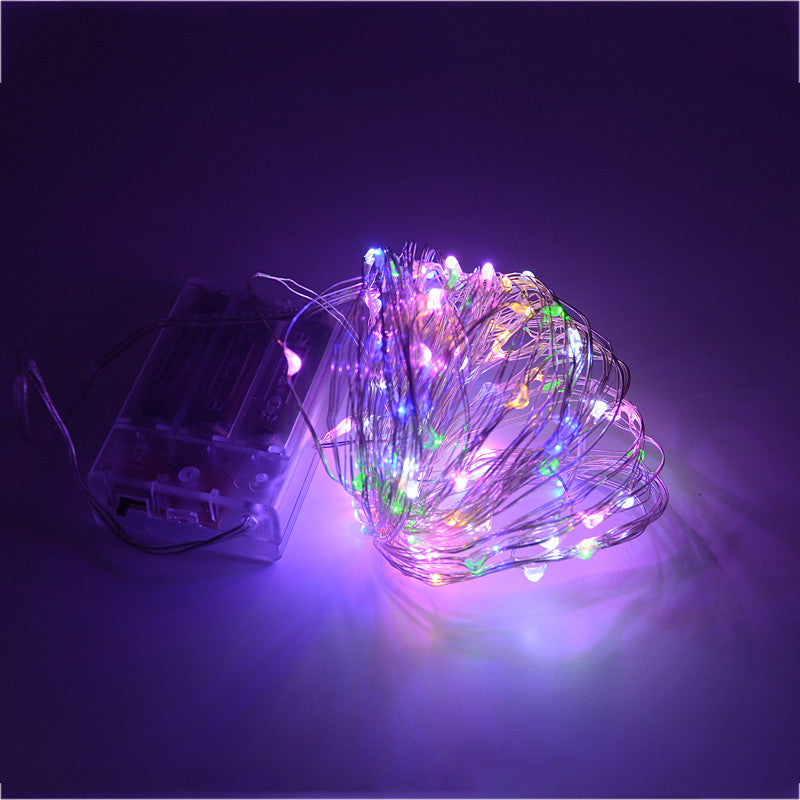 10M 100 led 3 AA Battery Powered Decorative LED Silver Wire Fairy String Lights for Christmas Holiday Wedding and Parties