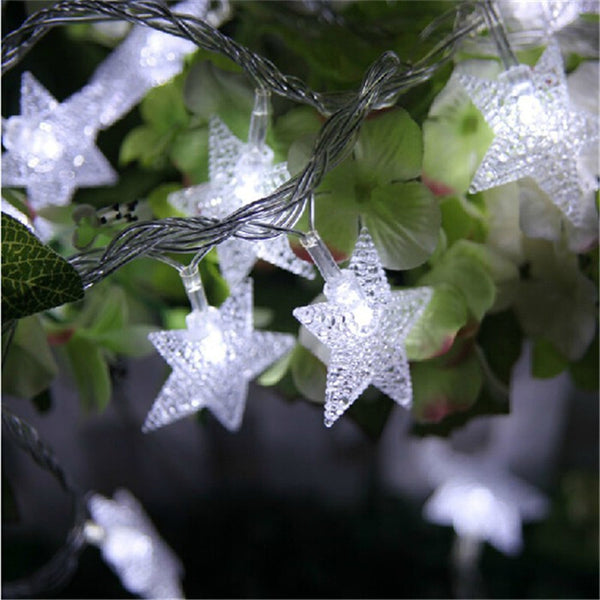 10M 50Led Lights Christmas Tree Snow Star Bulbs Led String Fairy Light Xmas Party Wedding Garden Garland Christmas Decorations
