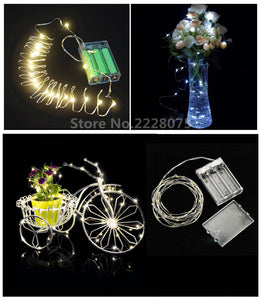 10M 5M 3M 2M 100 50 30 20LED 3AA Battery Operated Mini LED Copper Wire String Fairy Lights COLORFUL COOL WARM WHITE