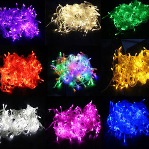 10M Waterproof 110V 220V 100 LED holiday String lights for Christmas Festival Party Fairy Colorful Xmas LED String Lights