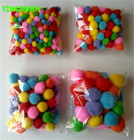 10mm-50mm Color Multicolor Pompoms pom-pom Kindergarten DIY Art Craft Materials for Creative Kids Early Educational