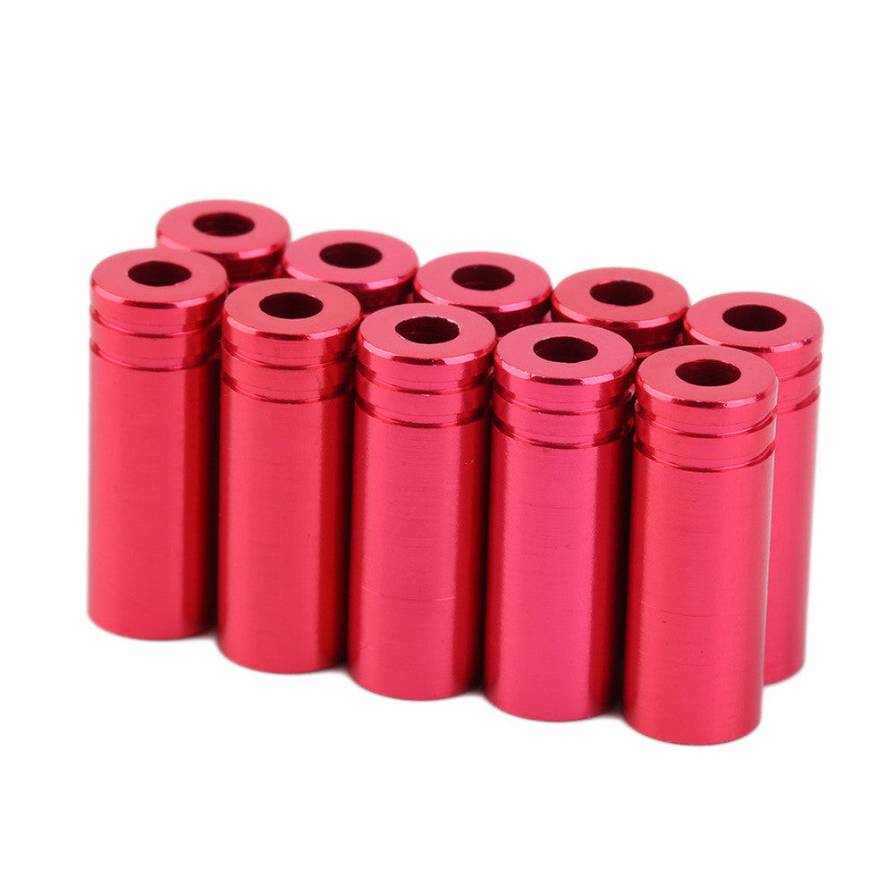 50pc Aluminum Bike Bicycle Brake Shifter Inner Cable Tips Wire End Cap Crimps