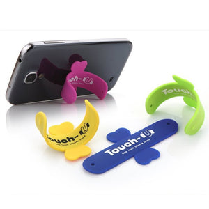 10Pcs Lot Mini Touch U One Touch Silicone Stand Finger Rings Universal Portable Phone Holder For iPhone 6 5s 7 Samsung Tablet PC