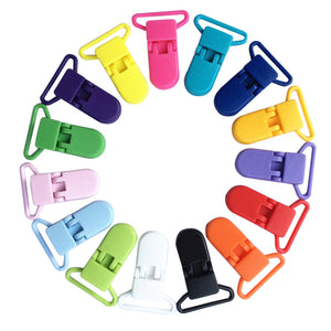 10Pcs set New Plastic Baby Pacifier Clip Holder Soother Pacifier Mam Infant Dummy Clips For Baby Random color