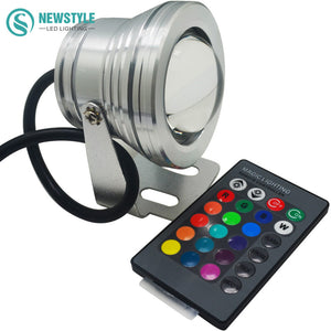 Led Underwater Lights Led Lamps Dc12v 10w Rgb Rgbw Led Underwater Light Ip67 Waterproof Swimming Pool Lights Changeable 16 Colors+24keys Led Controller