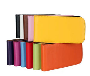 11 color Leather Flip Case Cover For HTC Desire V T328W Desire X T328e down and up case Free shipping