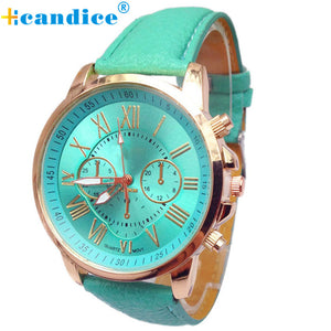 11 Colors 2016 New Fashion Ladies Watches Roman Numerals Faux Leather Analog Quartz Women Men Casual Relogio Hours Wrist Watch