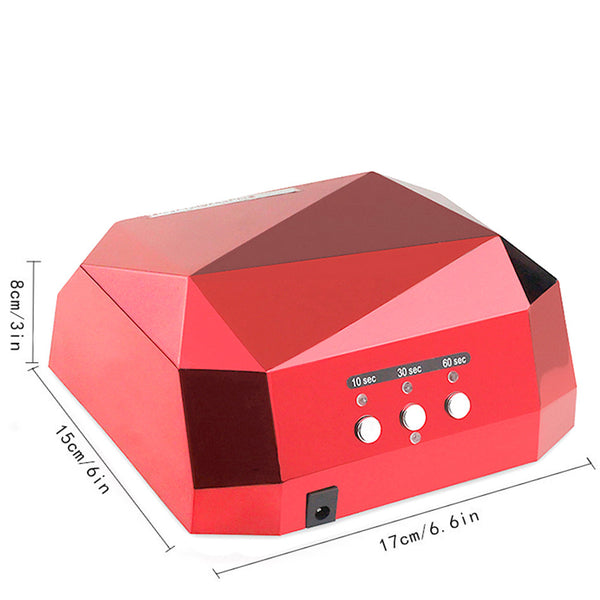 1106-AUTO Sensor LED Nail Lamp Nail Dryer Diamond Shaped 36W Long LIife LED CCFL Curing for Nails Polish UV Gel Nail Art Tools
