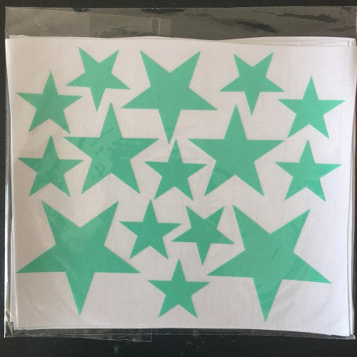 110pcs 5 4 2.5cm 3size mix Star pattern cute Wall Sticker for kids Easy Removable Waterproof ECO material for kids room decor