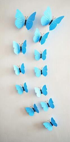 12 Pcs Lot PVC 3D Butterfly Wall Stickers Decals Home Decor Poster For U2013  Etzetra