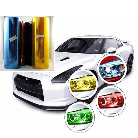 12 Color 30cm x60cm Car Styling Car Light Film Wrap Sheet Chameleon Headlight Taillight Tint Vinyl Film For Car Motorcycle