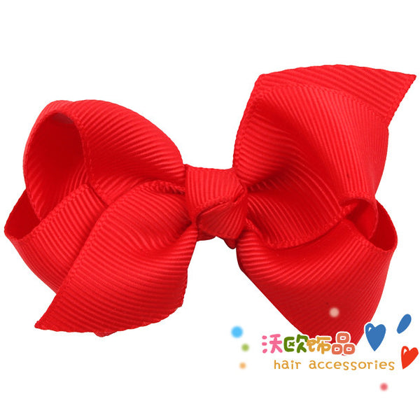 12 Colors Cute Baby Bow Hair Clip Lovely Kids Bowknot Hair Accessories Retail 1 piece Extail(15%off for2pcs) W115