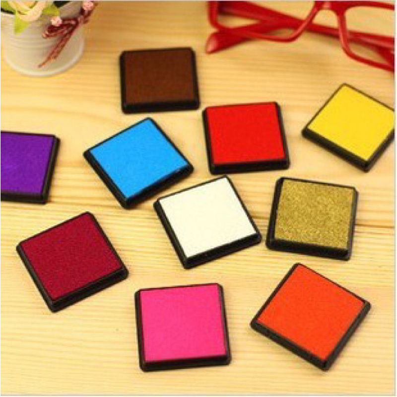 Multi Colors Ink Pad Oil Craft For Rubber Stamp Paper Wood Fabric Durable DIY