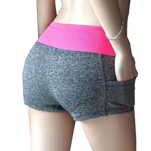 12 Colors Stretch Gym Fitness Running Shorts Women Yoga Shorts 2017 Women Printed Women Cycling Sport Short