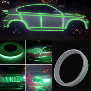 12mm*3M Roll Bright Green Reflective Sticker Motorcycle Car Luminous Tape Reflective Strip Decal PVC DXY