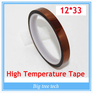 12mm x 33m High Temperature Resistant tape Heat dedicated Tape Heat Tape for 3D Printer Rapid Printer Maker Reprap Tape
