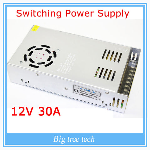 12V 30A 360W switching power supply adapter led strip light transformer 12v for 3d printer