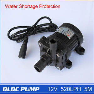 12V Brushless Water Pump 40-1250 1pcs 500LPH 5M Magnetic Driven Submersible for CPU Cooling Small Fountain Long Life