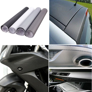 12x60inch DIY 3D Carbon Fiber Vinyl Wrap Film Car Vehicle Sticker Sheet Roll Waterproof 30x152cm