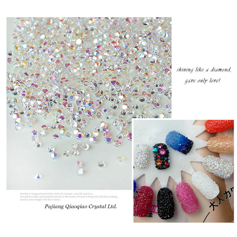 1440pcs lot 1.3mm Multicolor Nail Art Rhinestones Micro Nail Rhinestones Mini Nail Art Decorations Manicure Accessories