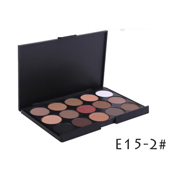 15 Colors Earth Colors Naked Pro Eyeshadow Pallete Maquiagem Kyshadow Make up Pallete Matte Eye Shadow Shades Cosmetics H34