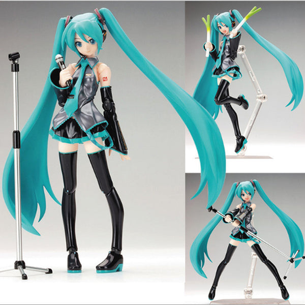 15cm Movable Anime Action Figure Hatsune Miku Model Toy Doll Toy - Blue