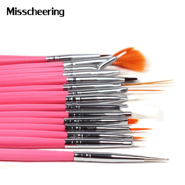 15pcs Professional UV Gel Acrylic Nail Art Brush Set Nail Design Polish Painting Drawing Pen Perfect Manicure Nail Tools
