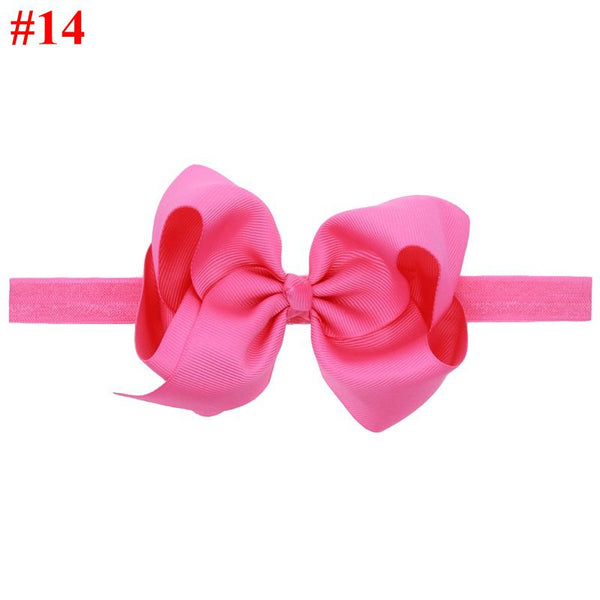 16 colors Baby Girls Big Bow Headband Infant Bebe Hair Accessories Elastic Hair Bands Bow Small Child Girls Headbands 1pc HB179