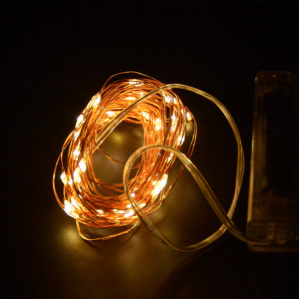 16.4ft 5M 50 led battery led string light 3AA Battery Operated Copper String Fairy Light For Party Wedding Christmas Decoration