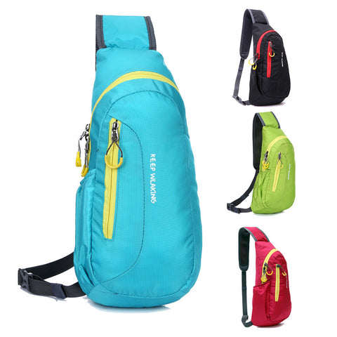 17*38*10cm Portable Nylon Waterproof Sport Chest Bags Running Bicycle Cycling Diagonal Package Chest Outdoor Sports Bag